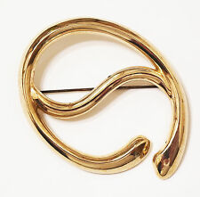 Place - Gold Tone - Pre-owned Wrap-Trap Scarf Accessory - Holds Scarf In