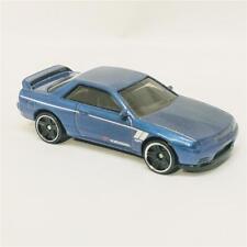 Nissan Skyline GT-R BNR32 Hot Wheels Dark Metallic Blue 1:64 Diecast Keychain