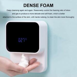 Wall-mounted Automatic Soap Dispenser LED Screen Infrared Smart Hand Washing