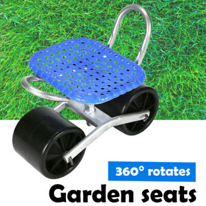 PORTABLE, HEIGHT ADJUSTABLE, 360Deg ROTATES GARDENING SEATS STOOL KNEELING PAD