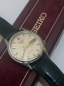 Vintage 1970's SEIKO mens Watch automatic japan with original box - working well