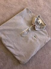 Mens XL LACOSTE polo top long sleeved grey collared top Menswear