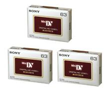 3 x Genuine Sony High Definition DVM63HD MiniDV HD Camcorder Tapes LP94 SP63 NEW