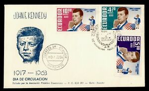 DR WHO 1964 ECUADOR FDC JFK AIRMAIL  C244657