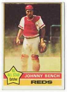 JOHNNY BENCH - 1976 TOPPS #300 !