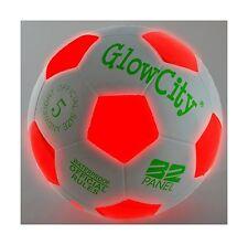 Light Up Led Soccer Ball - Uses 2 Hi-Bright Led Lights Size 5 Free Shipping