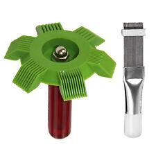 2pcs Condenser Radiator Fin Straightener Cleaner Comb Rake Tool