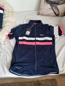 Rapha Brevet Short-Sleeve Cycling Jersey Merino Blue - L