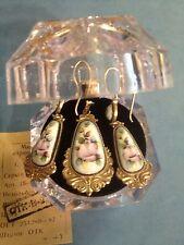 #36 Genuine Russian Jewelry German Silver Set Earrings Pendant Vintage Filigree
