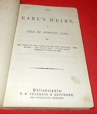 """""""The Earl's Heirs""""  Tale of Domestic Life  Mrs. Henry Wood *1862 1st Edition*"""