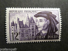 FRANCE 1955, timbre 1034, JACQUES COEUR, neuf**, VF MNH STAMP, CELEBRITY