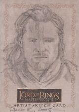 "Lord of the Rings Masterpieces Ii - David Rabbitte ""Aragorn"" Sketch Card"
