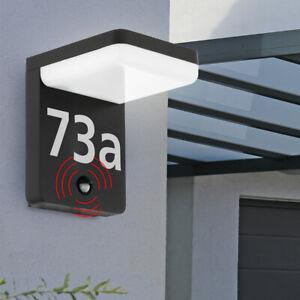 LED Außen Wand Lampe Hausnummer Leuchte Bewegungsmelder Fassaden Beleuchtung