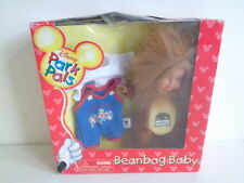 "DISNEY PARK PALS ANIMAL KINGDOM BEANBAG BABY - 9"" DOLL + CLOTHES-NEW IN WORN BOX"