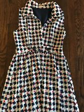 ModCloth Tulle Red Blue Checker Dress Pin Up Small S