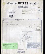 """NANTERRE (92) ACCESSOIRES VELOS MOTOS CYCLOMOTEURS """"HURET & Fils"""" en 1955"""