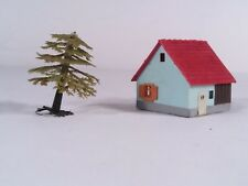 Vintage N Scale Aurora Country Mill House With Tree