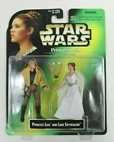 "STAR WARS KENNER PRINCESS LEIA COLLECTION WITH LUKE SKYWALKER 4"" TALL FIGURES"