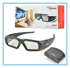 New Original Optoma Active Shutter 3D Glasses ZF2300 Starter Kit + Emitter