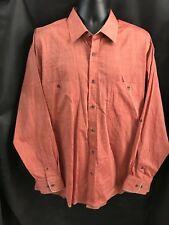 BLUE PRONTO UOMO Men's 100% Cotton Long Sleeve Shirt Size 2X