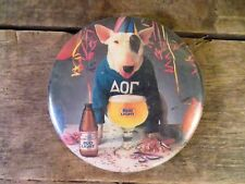"Budweiser BUD LIGHT Spuds MacKenzie Vintage 3"" Pin Back Button"