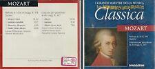 CD - 1A2  DE AGOSTINI I GRANDI MAESTRI DELLA MUSICA  CLASSICA  - MOZART  ( 500 )