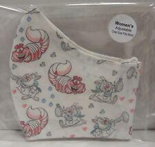 Handmade Cloth Face Mask CHESHIRE CAT WHITE RABBIT   Cotton Reusable Women