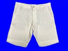 "- Zara Man Linen Shorts White 36 "" Waist"