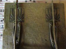 Antique ARTS & CRAFTS Hammered BRASS, LOCKING BOX