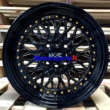 XXR 536 Black Gold Rivets 15 x 8 +20 Wheels Rims 85 Toyota Celica Supra GTS 5MGE