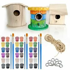 Wooden Birdhouse Kits For Kids Set 1 3 Pack Diy Wooden Bird Houses To Paint U
