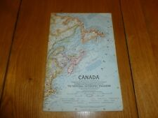 CANADA - National Gegraphic MAP - ATLAS PLATE 19 - Dec 1961