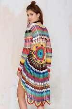 NWT UNIF Sz Small Rainbow Multi-Color Mandala Crochet Open Cardigan Sweater NEW