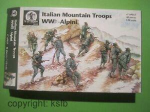 1:72 Figuren Waterloo1815 #057 WKI Italien Gebirgsjäger Italian Mountain Troops