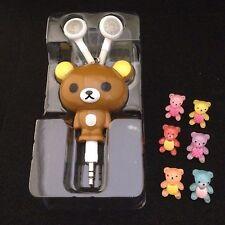 Taddy Bear Retractable Earphone + 6pcs Taddy Bear Earphone cap