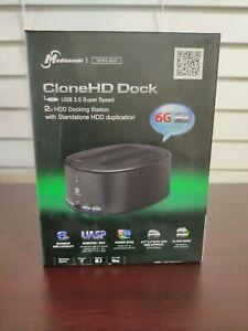 Mediasonic USB 3.0 Super Speed CloneHD Dock HUR2-SU3 Hard Drive SATA HDD NEW.BOX