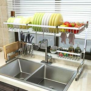 Over Sink Dish Drying Rack for Kitchen Supplies