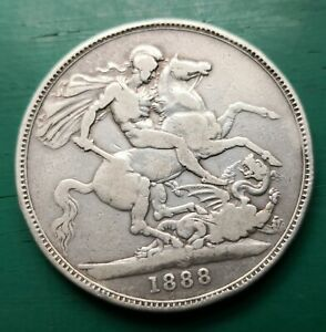 1888 narrow date Victoria silver crown #181