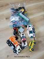 LEGO - 1KG CAR TRUCK BUS TRAILER ETC: VEHICLE THEMED BUILDING PACK(S)