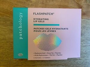 Patchology Flashpatch Hydrating Lip Gels x 5 Patches hyaluronic acid green tea