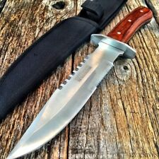 "11"" Rosewood Hunting Fixed Blade Survival Knife New w/Sheath Military 7594 -W"