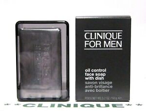CLINIQUE for Men Oil Control Face Soap with Dish (5.2oz/150gm) FULL SIZE