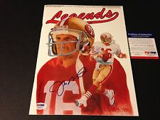 Joe Montana 49ers HOF 1990 Legends Magazine Mag Signed Auto PSA/DNA COA