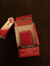 ONN wall usb charger red