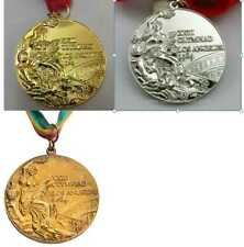 1984 Olympic Los Angeles Medal Set (Gold/Silver/Bronze) with Ribbons & Display !