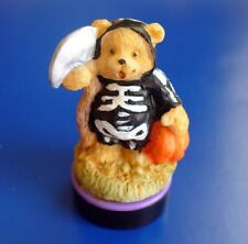 Rubber Stamp Halloween Vintage Skeleton Bear Scythe Figurine Miniature