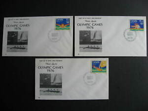 Canada 1976 Olympics Sc B4-6 NR cachet FDC first day covers, some mount marks