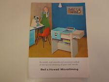 Bell & Howell Microfilming Brochure Catalog 1960's Microfilm