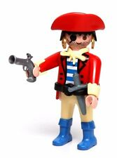 Playmobil Figure Pirate Eye Patch Gold Hoop Earrings Hat Dagger Pistol 4432 5737