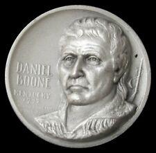 DANIEL BOONE KENTUCKY 25.2 GRAMS 999 SILVER HIGH RELIEF MEDALLIC ARTS